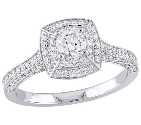 Affinity 14K Gold 1.00 cttw Round Diamond Vintage Halo Ring