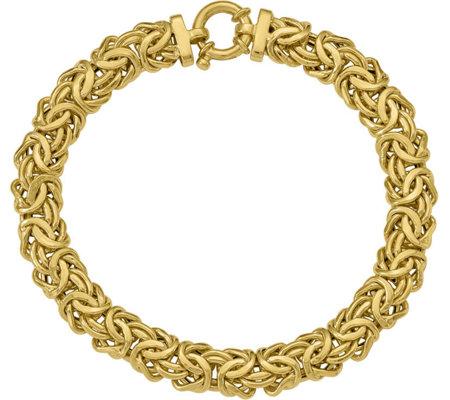 Italian Gold 7 1 2 Byzantine Bracelet 14k 9 9g