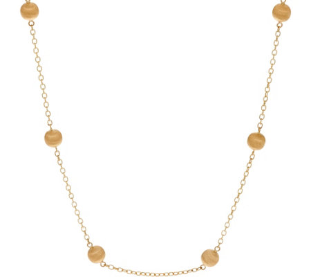 "Arte d' Oro 20"" Satin Bead Necklace 18K Gold, 6.4g"
