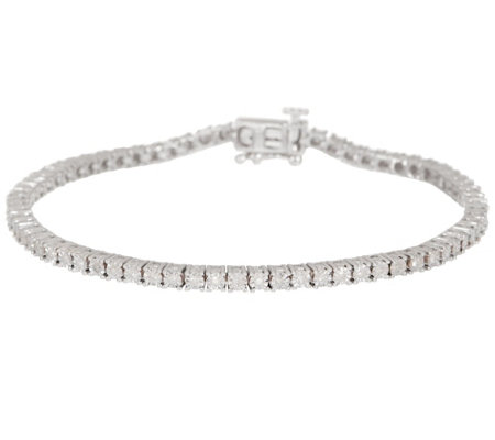 "Diamond 6-3/4"" Tennis Bracelet 1/2cttw, Sterling Silver by Affinity"