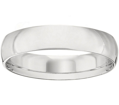 Women's 18K White Gold 5mm Half-Round Wedding Band