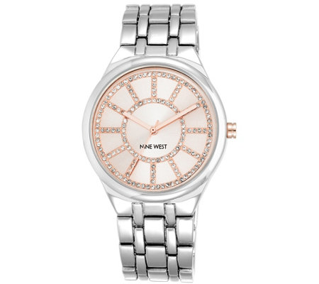 Nine West Women's Crystal Bracelet Watch