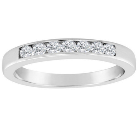 Affinity 1 3 Cttw 7 Stone Diamond Channel Bandring 14k Gold