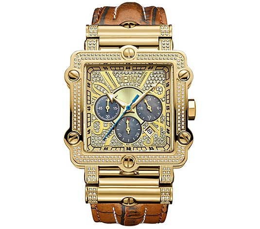 JBW Men's Phantom Crystal Gold-Plated Watch
