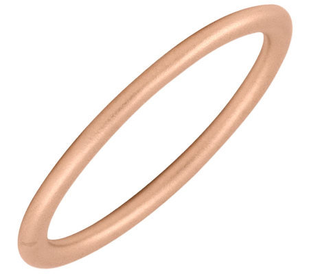 Simply Stacks Sterling 18k Rose Gold Plated 2 25mm Satin Ring