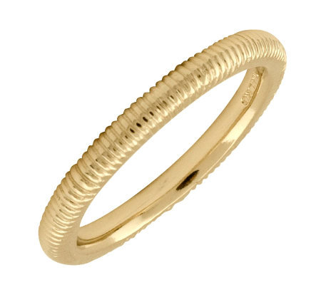 Simply Stacks Sterling 18K Yellow Gold-Plated 2.25mm Txtr Ring