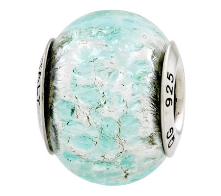 Prerogatives Sterling Light Teal Italian MuranoGlass Bead