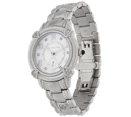 Judith Ripka Stainless Steel Mother-of-Pearl Watch
