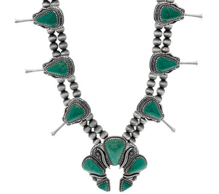 Jennifer Nettles Sterling Silver Turquoise Bold Necklace