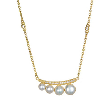 Judith Ripka 14K Clad Cultured Pearl & Diamonique Necklace
