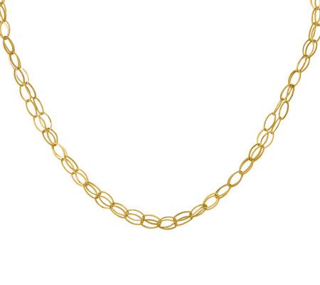 14K Double Strand Oval Links Necklace, 3.1g