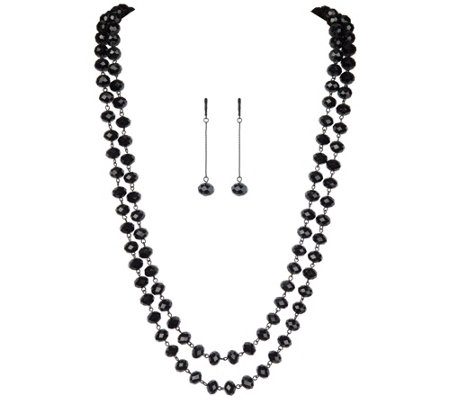 Linea by Louis Dell'Olio Glitterati Glass Bead Necklace Set