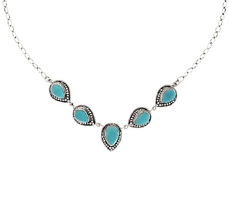 Artisan Crafted Sterling Sleeping Beauty Turquoise Necklace