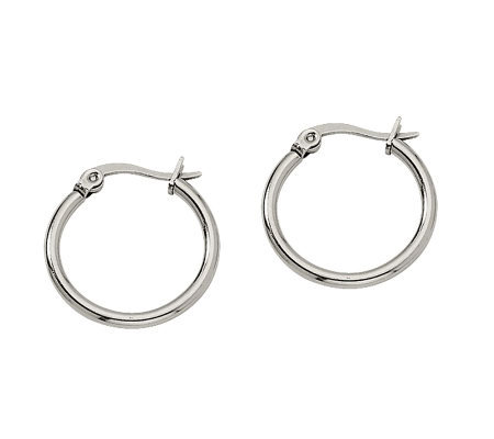 Steel By Design 3 4 Hoop Earrings