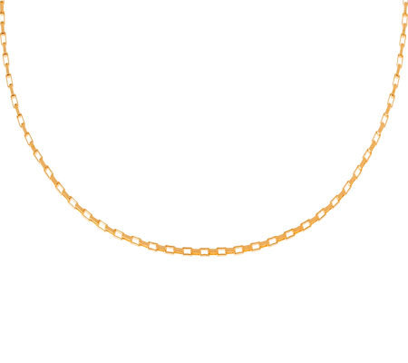 Veronese 18K Clad 16&quot Polished Rectangular LinkChain