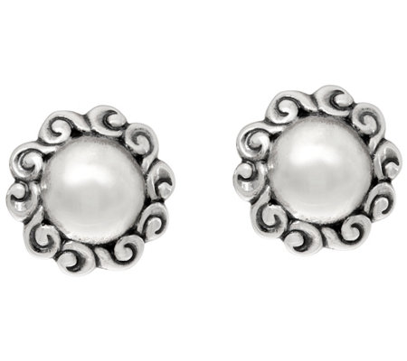 Carolyn Pollack Sterling Silver Signature Round Button Earrings