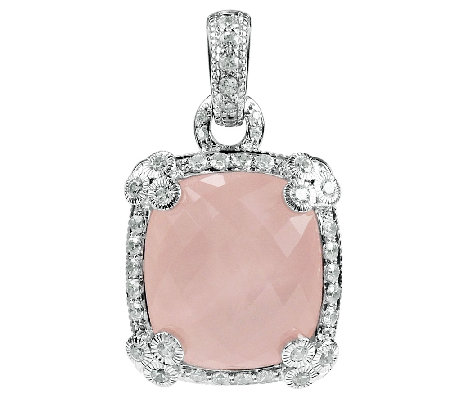 Judith Ripka Sterling Rose Quartz Enhancer