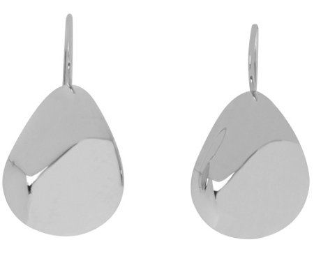 Arte d'Oro Bold Pear-Shaped Earrings, 18K WhiteGold