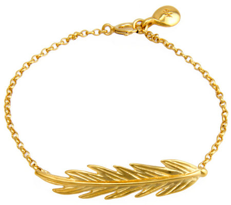 Hagit Sterling and14K Clad Feather Bracelet