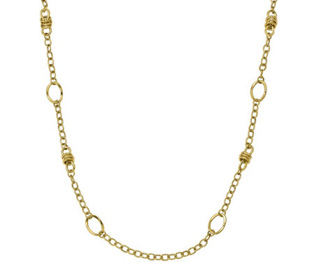 "14K Gold Multi Link 32"" Necklace, 13.4g"