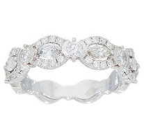 Marquise & Round Diamond Band Ring, 14K, 1.00 cttw, by Affinity - J352067