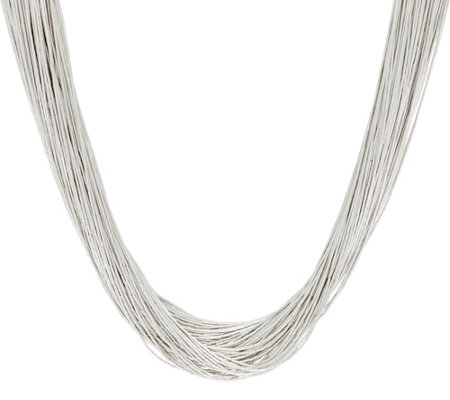 """As Is"" American West Sterling Silver 100 Strand Liquid Necklace"