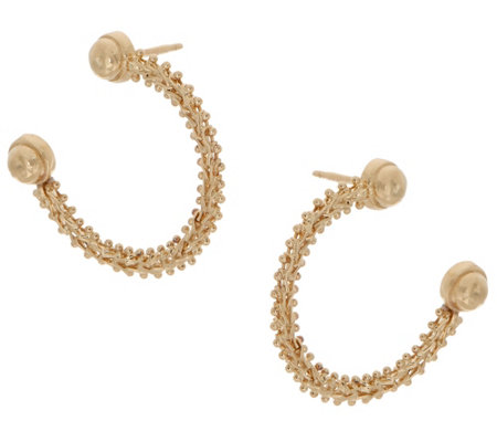 Imperial Gold Journey Hoop Earrings 14k