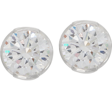 TOVA Diamonique 6.00 cttw Stud Earrings, Sterling or 14K Gold Clad