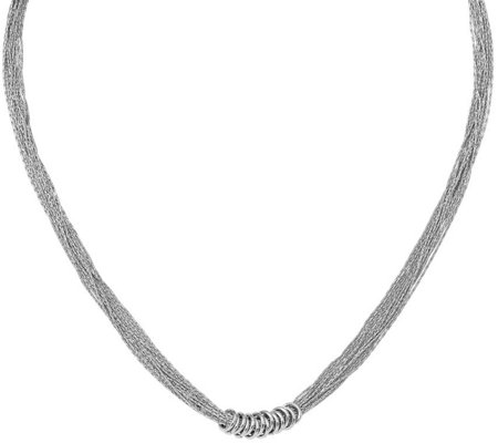 "Sterling Multi-Strand 18"" Necklace, 11.9g by Silver Style"