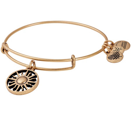 Alex and Ani Rising Sun Charm Bangle