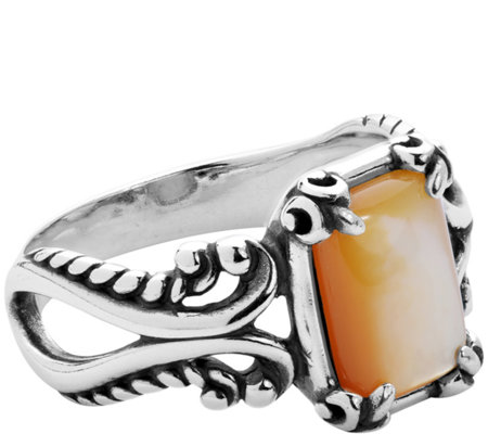 Carolyn Pollack Sterling Positano Rectangular Gemstone Ring
