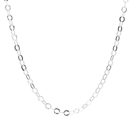 Ultrafine Silver 18 Hammered Circle Link Necklace 5 8g