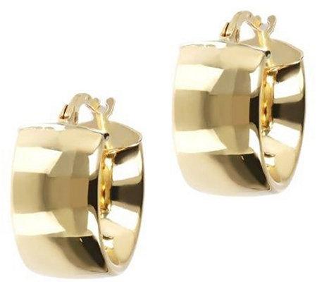 Arte D Oro 1 2 Polished Round Hoop Earrings 18k