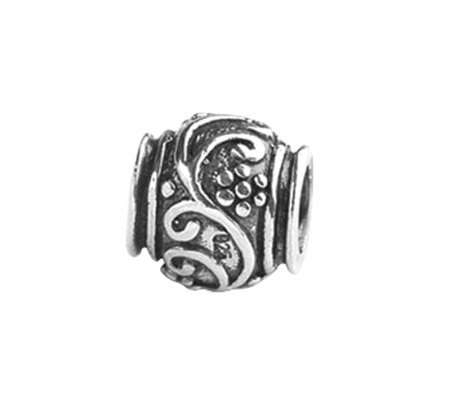 Prerogatives Sterling Floral and Vines Bead
