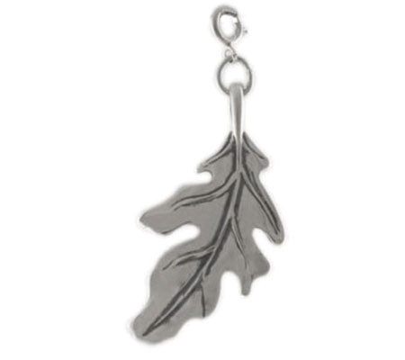 Sterling Oak Leaf Charm