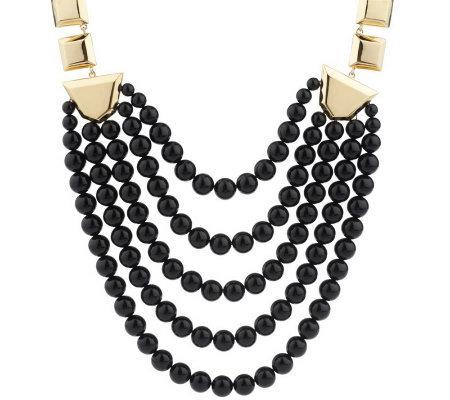 Luxe Rachel Zoe Geometric Link Bead Necklace