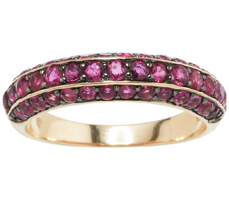 1 40 ct tw Thai Ruby Band Ring 14K Gold Page 1 — QVC