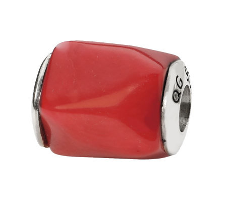 Prerogatives Sterling Coral Gemstone Bead