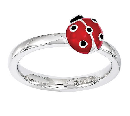 Simply Stacks Sterling Ladybug Ring