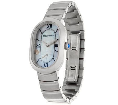 Philip Stein Mother of Pearl Stainless Steel Bracelet Watch