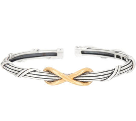 Peter Thomas Roth Sterling Silver & Clad Two-Tone Infinity Cuff