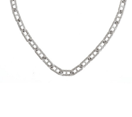 """As Is"" Judith Ripka Sterling 18"" Status Link Toggle Necklace"