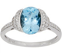 Santa Maria Aquamarine and Diamond Ring, 1.70 cttw, 14K - J357468