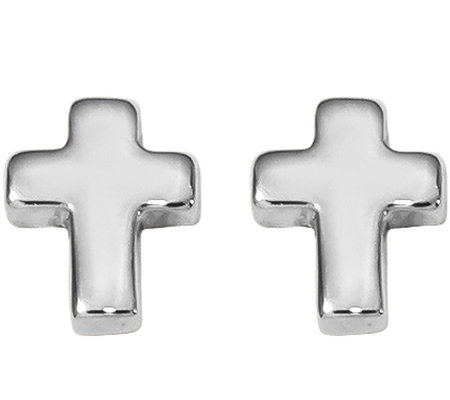 14K Petite Cross Post Earrings