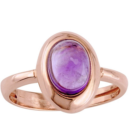 14K Rose Gold 1.05 ct Amethyst Ring