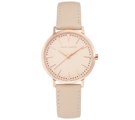 Vince Camuto Women's Bold Rosetone & Blush Leather Strap Watch