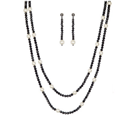 Linea by Louis Dell'Olio Moon Glow Station Necklace Set