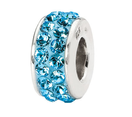 Prerogatives Sky Blue Double Row Swarovski Crystal Bead