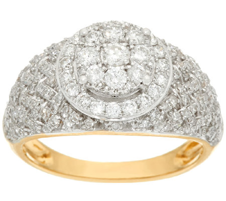 Woven Halo Cluster Diamond Ring, 14K Gold, 1.00 cttw by Affinity