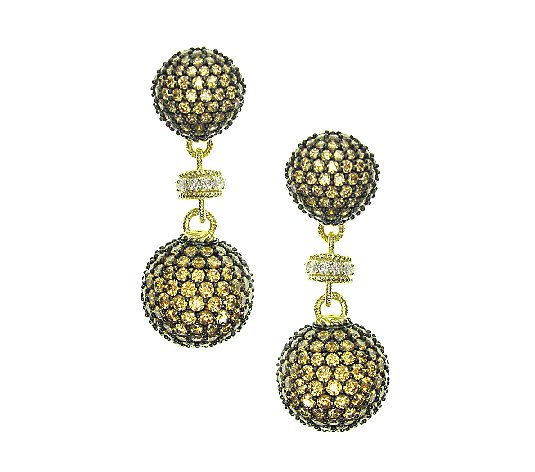 Judith Ripka 14K Yellow Gold-Clad Diamonique Drop Earrings